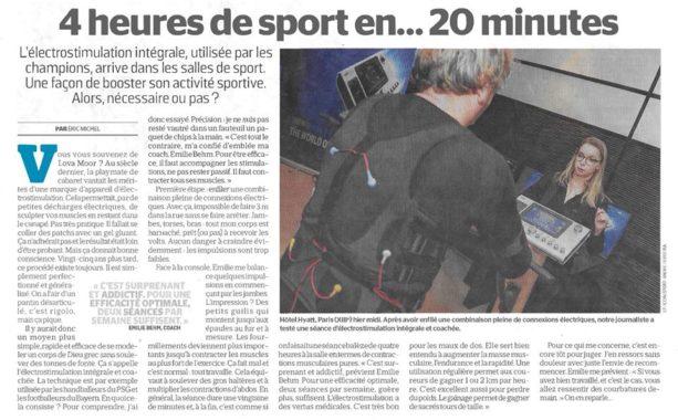 Article du Parisien sur la Miha Bodytec