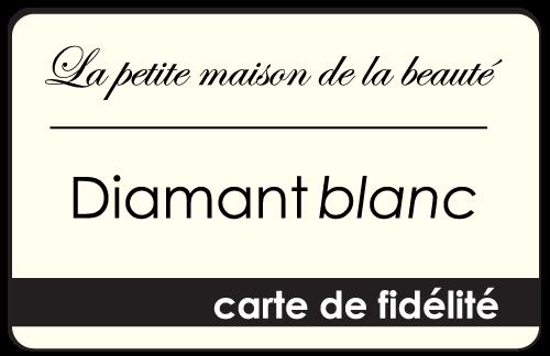 carte de fidélité diamant blanc