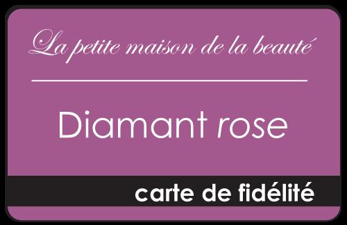 carte de fidélité diamant rose